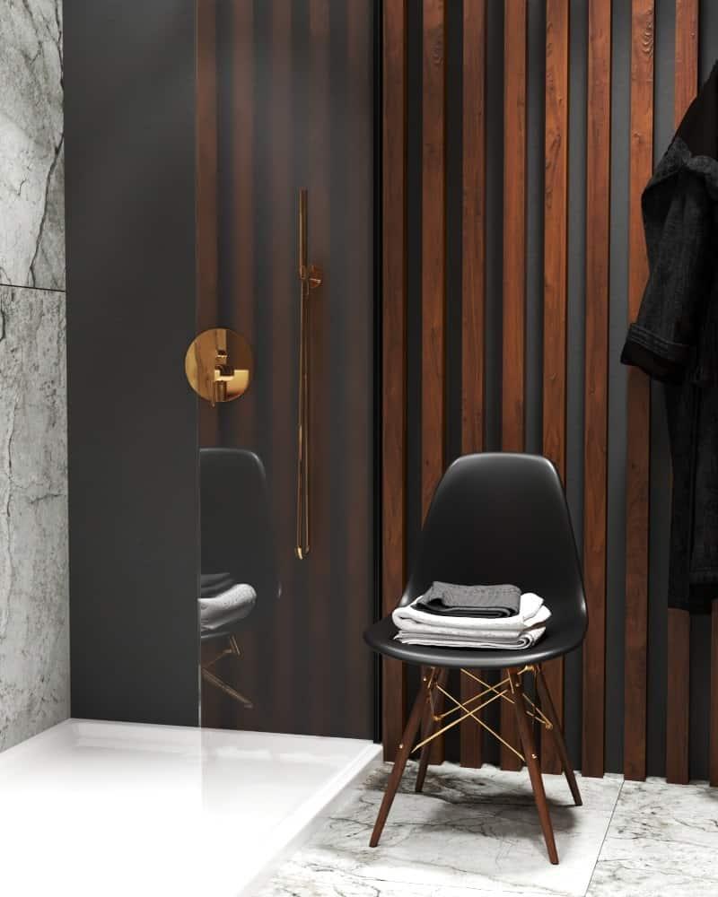 Marble bathroom design details dressing area