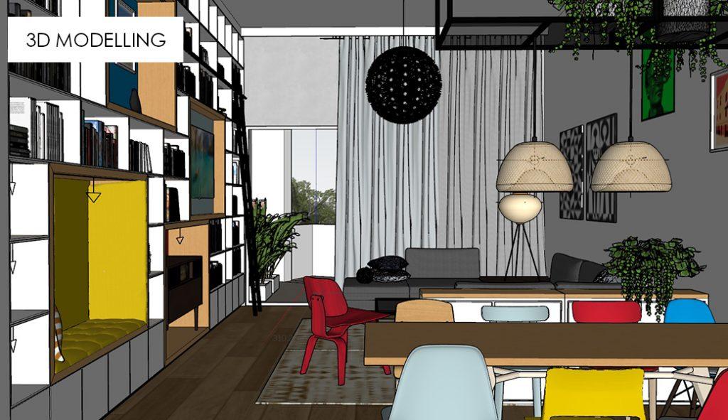 3D modelling image 3 living room